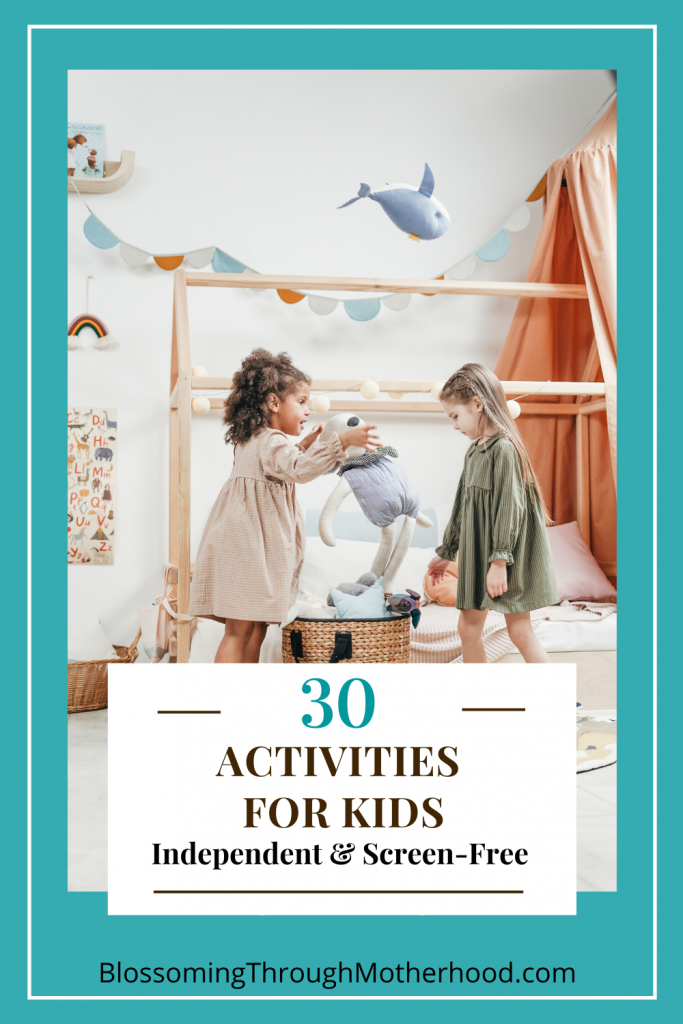 Independent, screen-free activities for kids