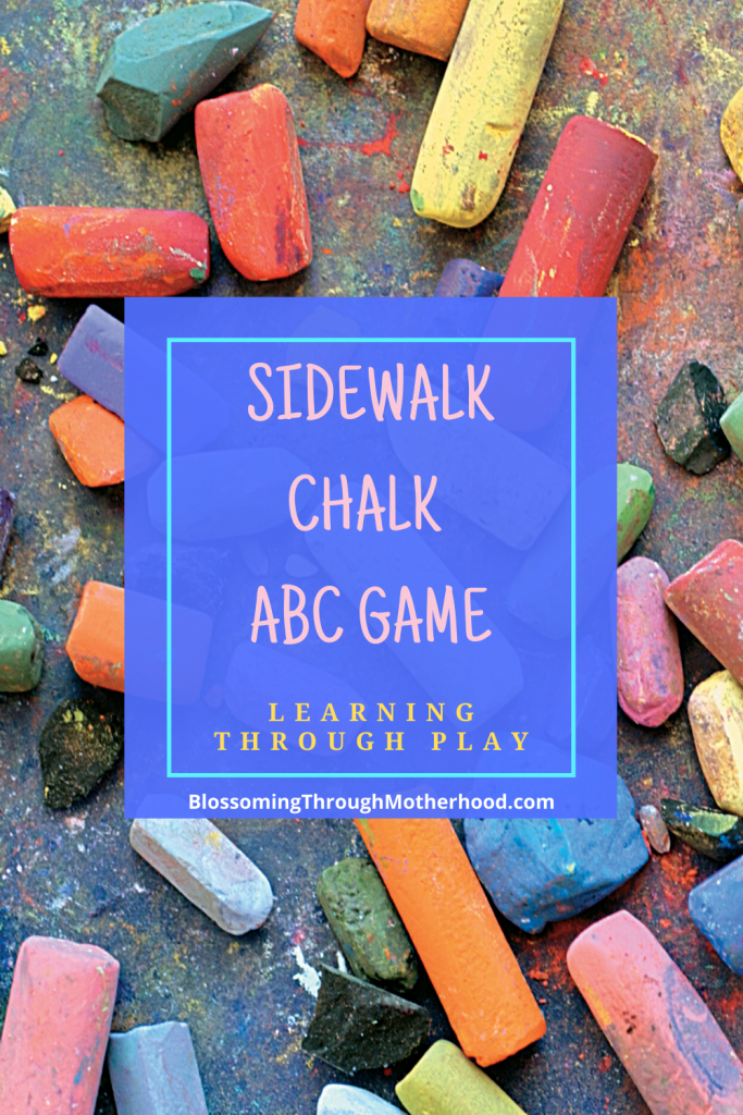 Learning through play with sidewalk chalk activities