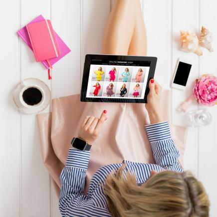 Saving money shopping online.
