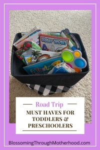 Road trip must haves for toddlers and preschoolers
