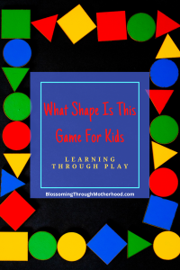 Easy, No Prep Shape Game for Toddlers & Preschoolers