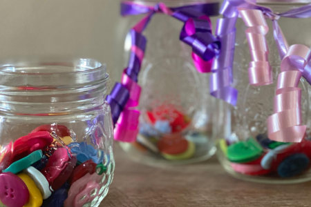 Teaching Life Lessons to Kids with Button Jars