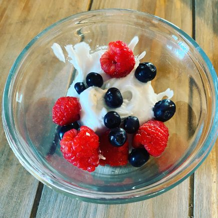 Berries with Whipped Coconut Cream