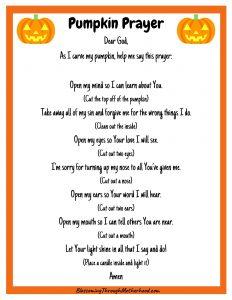Carving Pumpkin Prayer