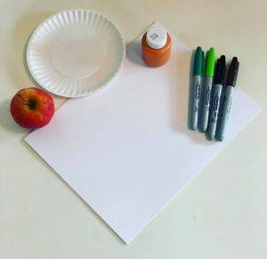 supplies for pumpkin apple painting