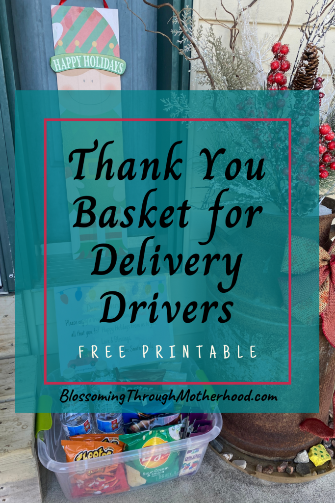 Thank You Basket for Delivery Drivers