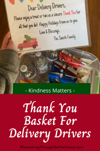 Delivery Drivers Thank You Basket