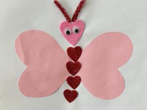 Valentine heart butterfly craft