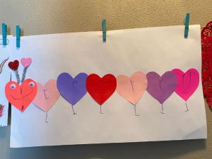 Valentine love bug name craft